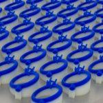 Tavola cera fondibile per gioielleria stampata in 3D