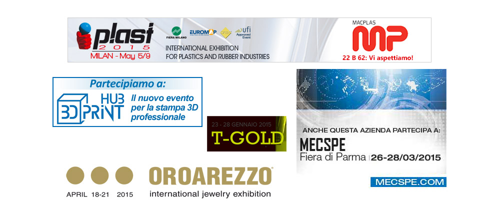 Fiere Stampa 3D 2015 in Italia