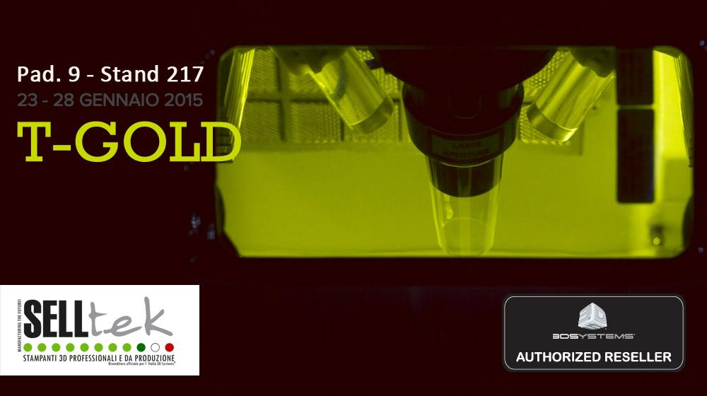 Stampa 3D al TGold Vicenza 2015 Selltek