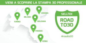 Road to 3D mappa eventi stampa 3D in Italia