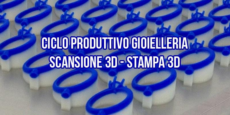 Ciclo produttivo gioielleria stampa 3D