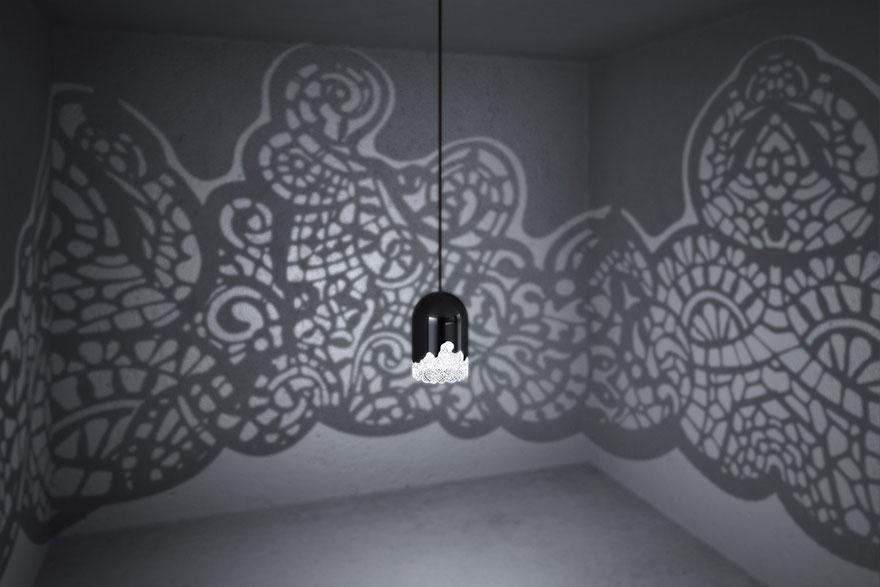 Lampade che fondono arte e stampa 3d