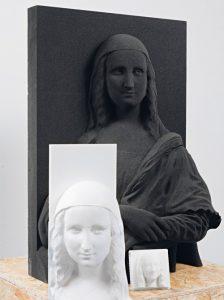 Gioconda realizzata con la stampa 3D
