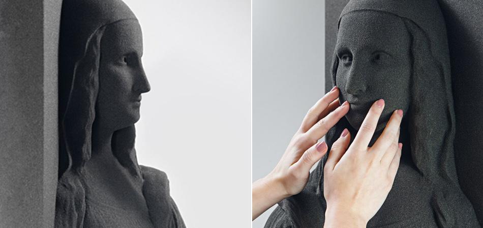 Opera d'arte stampata in 3D Gioconda