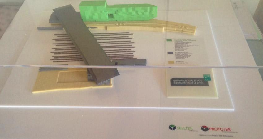 Modellino stampato in 3D da Selltek per BNP Paribas al MAXXXI di ROMA