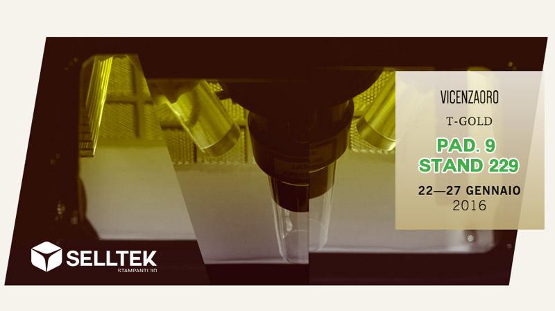 Stampa 3D gioielleria T-Gold Vicenza 2016