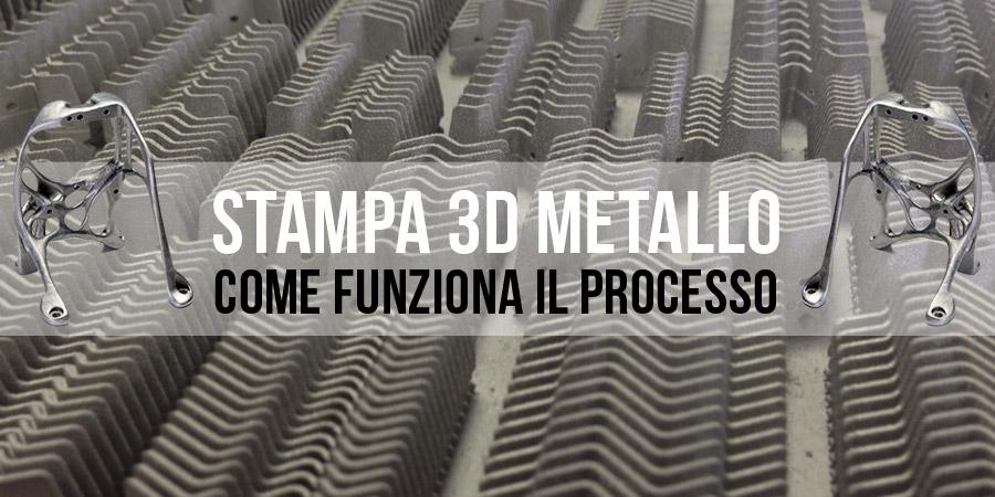 Come funziona il processo di stampa 3D metallo