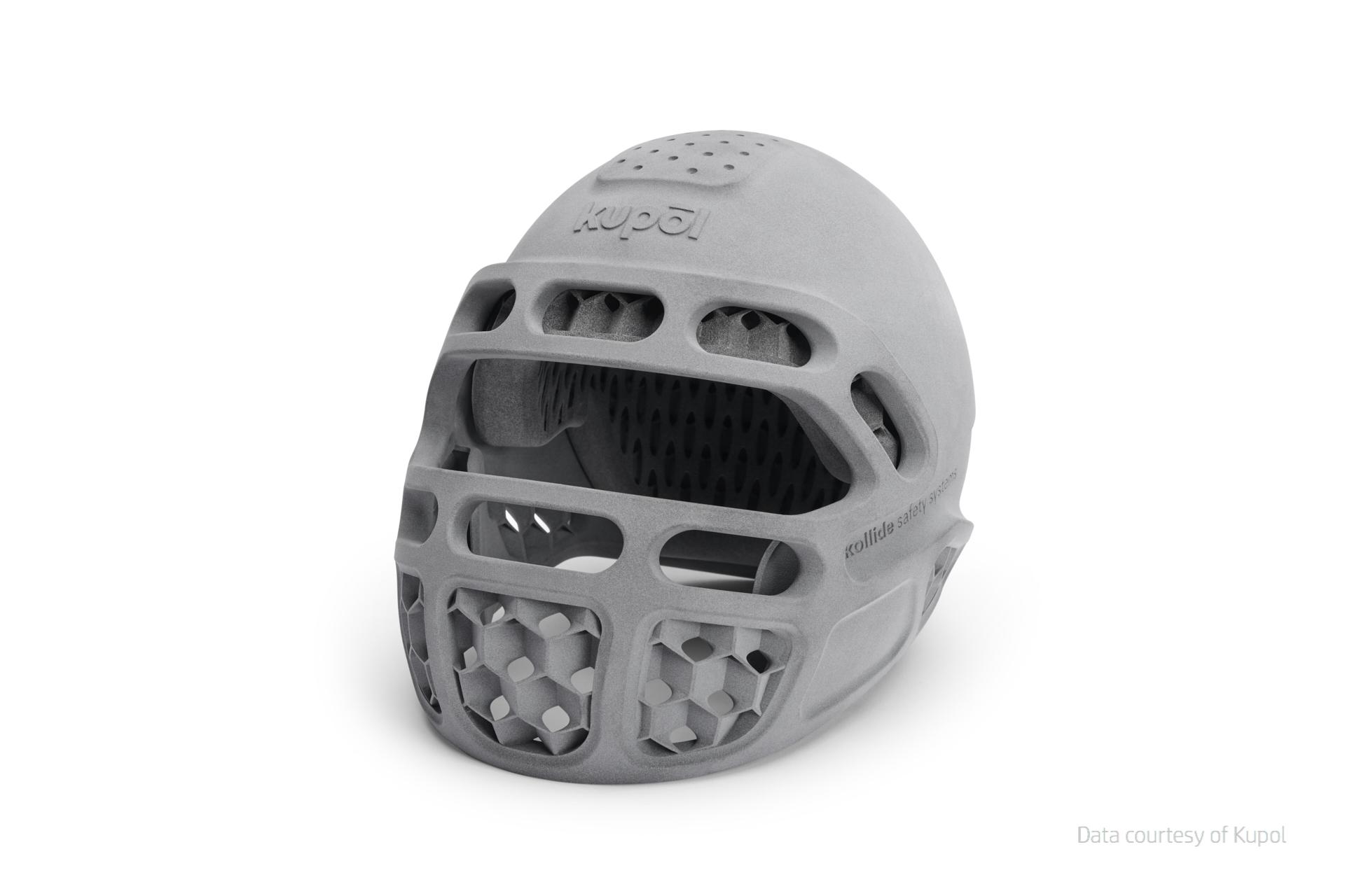casco realizzato con HP Jet Fusion 5200