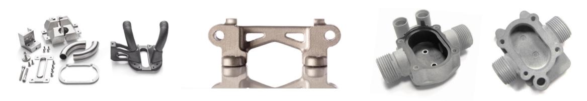 PEZZI finiti stampanti 3D in metallo