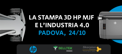 Evento - La stampa 3D HP MJF e l'industria 4.0 | Selltek