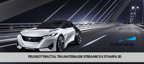 Peugeot Fractal tra Materialise Streamics e stampa 3D