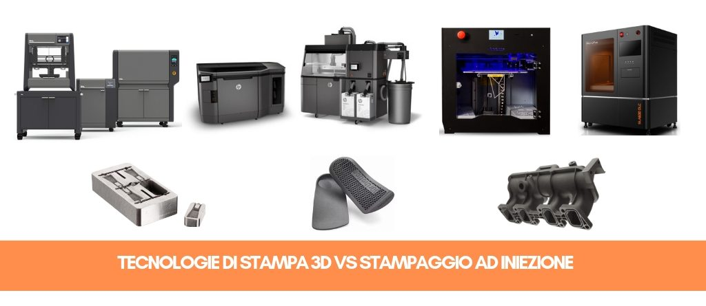 Tecnologie di stampa 3D vs stampaggio ad iniezione