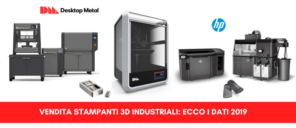 Vendita stampanti 3D industriali. Ecco i dati 2019 | Selltek